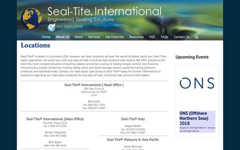 Screenshot of Locations Page seal-tite.com - Locations - Seal-Tite International - captured Nov. 12, 2018