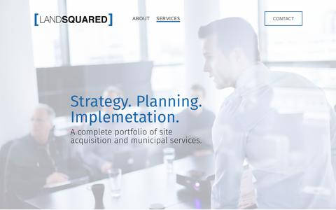 Screenshot of Services Page landsquared.com - Services | Land Squared - captured May 14, 2017