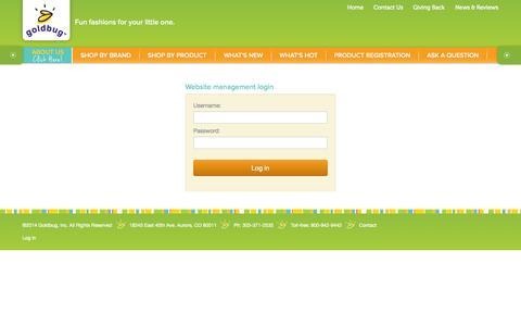 Screenshot of Login Page goldbuginc.com - Goldbug Inc. - captured Oct. 3, 2014