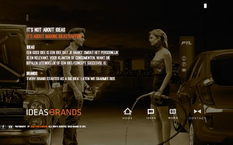 Screenshot of Menu Page ideasandbrands.nl - IDEAS+BRANDS Creative Agency - captured Nov. 2, 2014