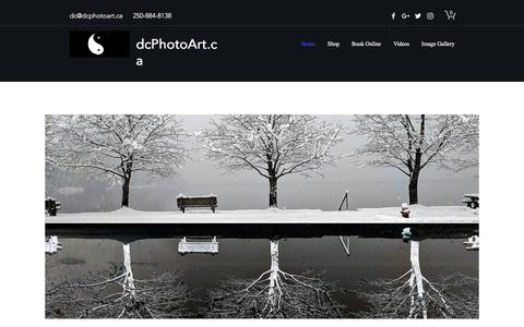 Screenshot of Home Page dcphotoart.ca - DcPhotoArt.ca - captured June 5, 2017