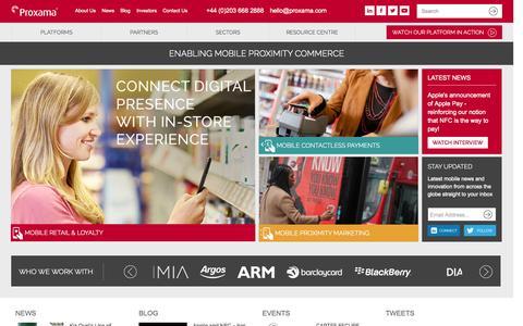 Screenshot of Jobs Page proxama.com - Home | Proxama - captured Sept. 17, 2014