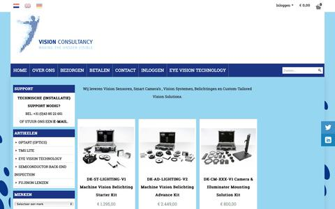 Screenshot of Home Page machine-vision-shop.nl - Machine Vision Shop - captured Dec. 8, 2018