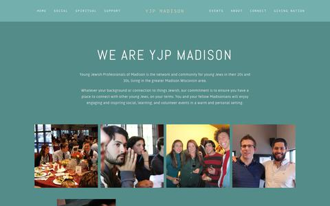 Screenshot of About Page yjpmadison.com - About — YJP Madison - captured Oct. 24, 2018