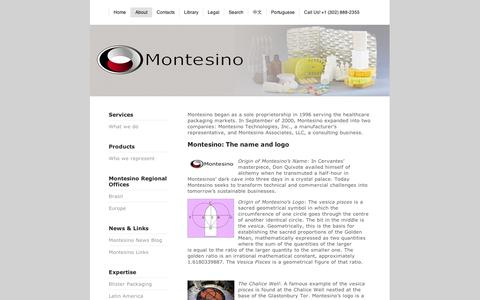 Screenshot of About Page squarespace.com - Montesino - About - captured Sept. 11, 2014