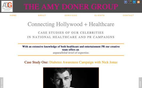 Screenshot of Case Studies Page amydonergroup.com - Case Studies   National Media Healthcare Campaigns - captured Nov. 6, 2018