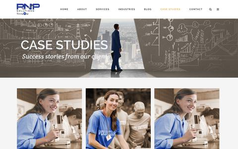 Screenshot of Case Studies Page pnp.com.au - Case Studies - captured Oct. 17, 2016