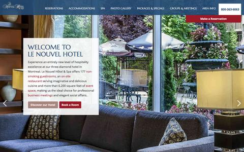 Screenshot of Home Page lenouvelhotel.com - Downtown Montreal Hotels - Le Nouvel Hotel and Spa - captured Jan. 27, 2016