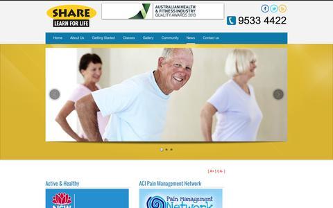 Screenshot of Press Page share.org.au - News | ShareShare - captured Oct. 3, 2014