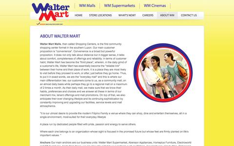 Screenshot of About Page waltermart.com.ph - Walter Mart - About Us - captured Oct. 19, 2017