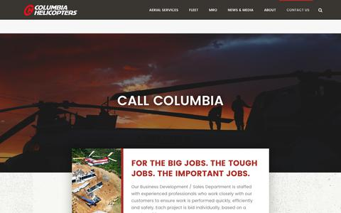 Screenshot of Contact Page colheli.com - Contact Columbia Helicopters | Sales, Service, Support | Email, Phone, Call | Columbia Helicopters - captured Aug. 17, 2017