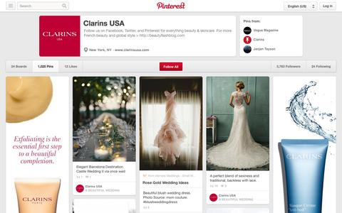 Screenshot of Pinterest Page pinterest.com - Clarins USA on Pinterest - captured Oct. 22, 2014