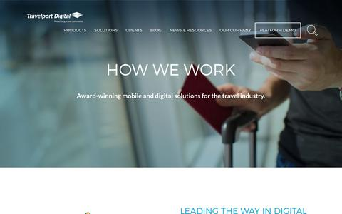 Screenshot of Products Page travelport.com - Award Winning Mobile & Digital Solutions - Solutions | MTT - captured June 24, 2017
