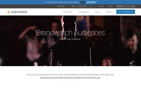 Audiences - Brandwatch