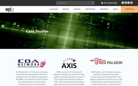 Screenshot of Case Studies Page apisystemsinc.com - Case Studies - api - captured Nov. 6, 2018