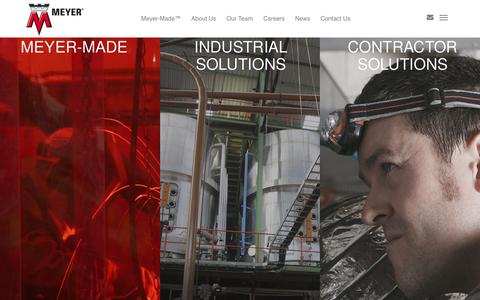 Screenshot of Home Page wmwmeyer.com - Meyer Corporate | Industrial & Contractor Solutions - captured Feb. 26, 2016