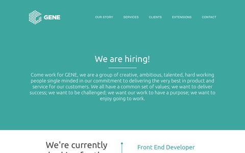 Screenshot of Jobs Page gene.co.uk - Careers at Gene - captured Jan. 27, 2016