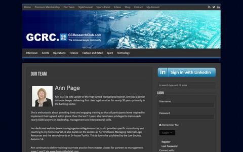 Screenshot of Team Page gcresearchclub.com - Our Team - GC Research Club - captured Sept. 26, 2014