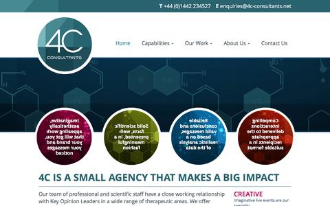 Screenshot of Home Page 4c-consultants.net - 4C Is A Small Agency That Makes A Big Impact | 4C Consultants - captured Feb. 16, 2016
