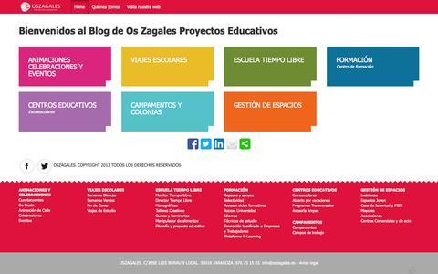 Screenshot of Blog oszagales.com - Os Zagales – Blog - captured Oct. 27, 2014