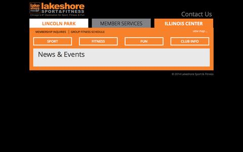 Screenshot of Press Page lakeshoresf.com - News & Events | Lakeshore Sport & Fitness - captured Sept. 25, 2014