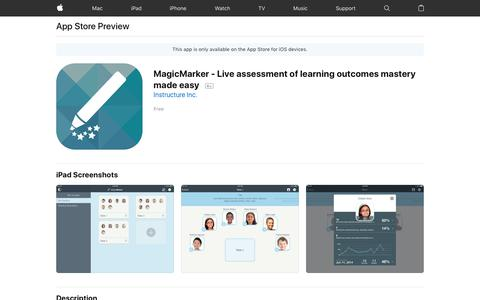 MagicMarker - Live assessment of learning outcomes mastery made easy on the AppStore