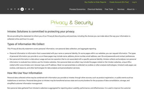 Screenshot of Privacy Page intratec.us - Privacy Policy - captured Feb. 11, 2016
