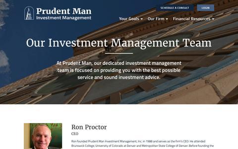 Screenshot of Team Page prudentman.com - Investment Management Advisors Denver | Prudent Man - captured Nov. 14, 2016