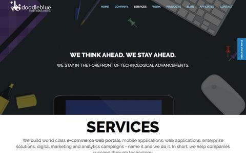 Screenshot of Services Page doodleblue.com - Mobile App Design and Development Company   doodleblue - captured Sept. 1, 2016