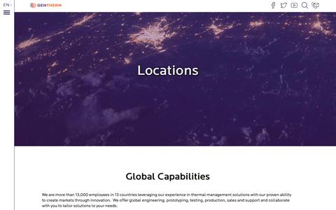 Screenshot of Locations Page ztplus.com - Locations | Gentherm - captured Sept. 21, 2018