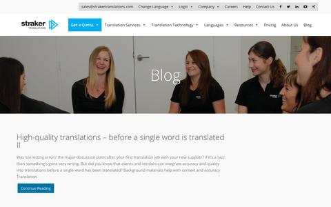 Straker Translations | Blog