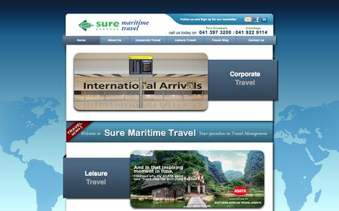Screenshot of Home Page maritimetravel.co.za - Maritime Travel - Specialist in Travel Management - captured Oct. 7, 2014
