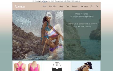 Screenshot of Home Page carizzi.com - Carizzi - captured July 19, 2015