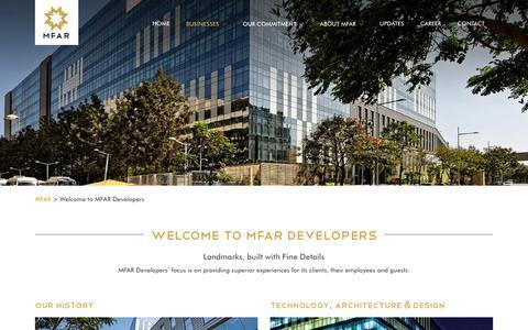Screenshot of Developers Page mfar.com - Welcome to MFAR Developers - captured Sept. 20, 2018