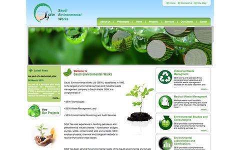 Screenshot of Home Page sewltd.com.sa - Welcome To Saudi Environmental Works - captured Oct. 6, 2014