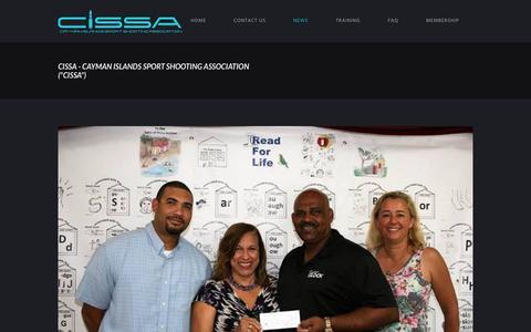 "Screenshot of Press Page cissa.ky - News - CISSA - Cayman Islands Sport Shooting Association (""CISSA"") - captured Sept. 27, 2018"
