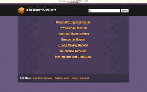 Allpackersmovers.com