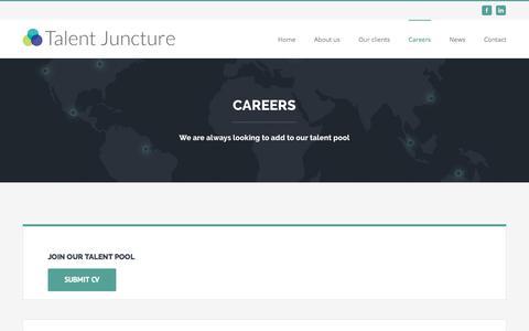 Screenshot of Jobs Page talentjuncture.com - Careers – Talent Juncture - captured June 16, 2017