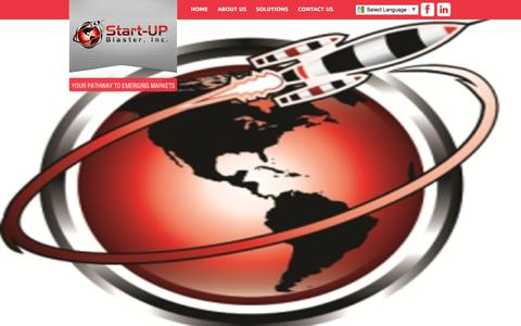 Screenshot of Home Page startupblaster.com - Start-UP Blaster, Inc. - captured Dec. 17, 2016