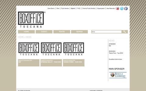 Screenshot of Press Page boxofficetoscana.it - Boxoffice Toscana - News - captured Oct. 27, 2014