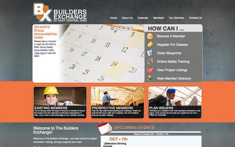 Screenshot of Home Page mybx.org - Builders Exchange - captured Oct. 5, 2014