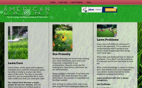 Screenshot of Home Page american-lawns.com - American-Lawns |  Lawncare Advice, Maintenance, and Care - captured Jan. 17, 2016