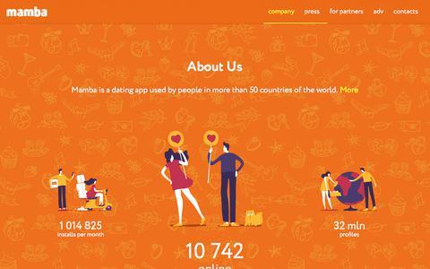 Screenshot of Developers Page wamba.com - Corporate Mamba website   corp.mamba.ru - captured Sept. 22, 2018