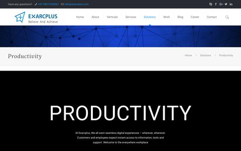 Productivity - Exarcplus Mobile Apps Pvt Ltd.