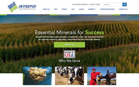 Screenshot of Home Page intrepidpotash.com - Home - Intrepid Potash - captured Sept. 19, 2018