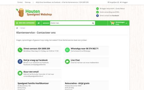 Screenshot of Contact Page houtenspeelgoed-webshop.nl - Contact met ons opnemen - Houtenspeelgoed-Webshop.nl - captured Jan. 8, 2017