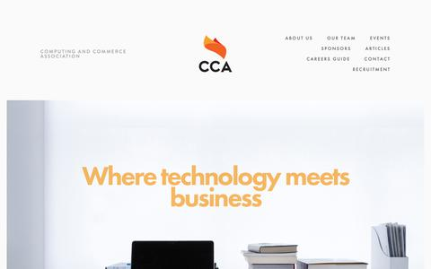 Screenshot of About Page ccamonash.com.au - Computing and Commerce Association - captured Sept. 28, 2018