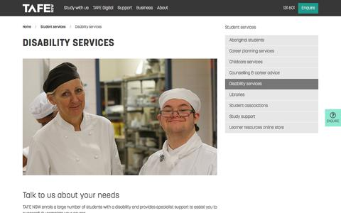 Disability Services - Student Support - TAFE NSW