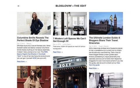 Screenshot of Blog bloglovin.com - Bloglovin'—the Edit - captured Dec. 4, 2015