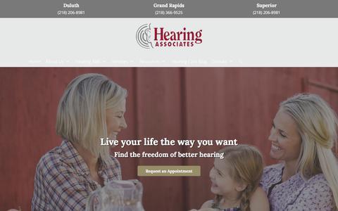 Screenshot of Home Page hearbettertoday.com - Hearing Aids | Best Audiologists | Hearing Associates - captured Sept. 24, 2018